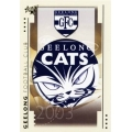 2003 XL - Common Team Set - Geelong Cats (10)