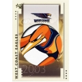 2003 XL - Common Team Set - West Coast Eagles (10)