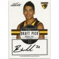 2012 Eternity - Draft Pick Signature - Bradley HILL (Hawthorn)